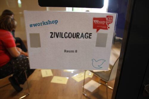 Workshop Zivilcourage auf der Jugendkonferenz 2018 in Nürnberg